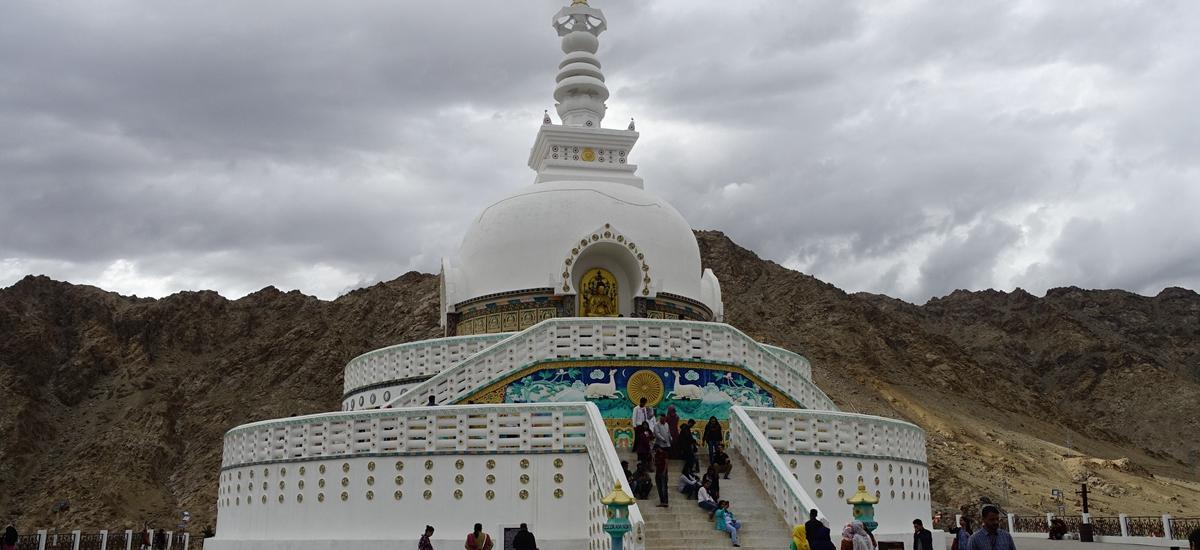 印度拉達克-香緹佛塔 Shanti Stupa