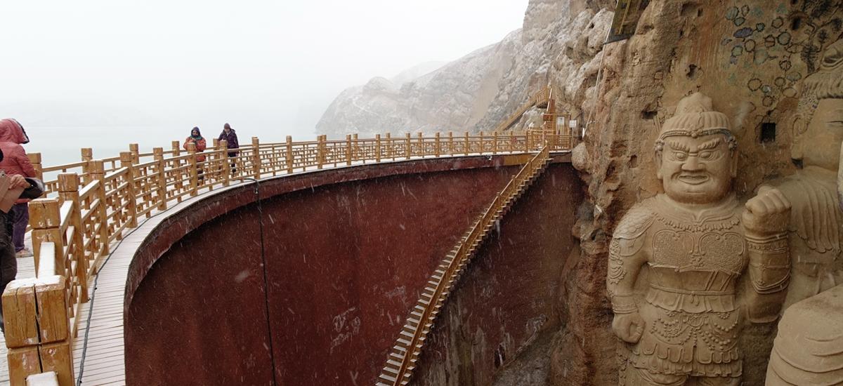 甘肅武威-天梯山石窟