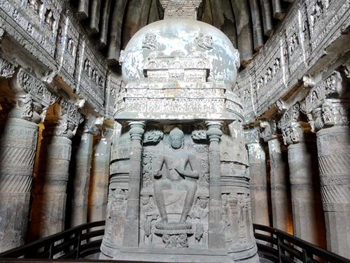 印度奧蘭卡巴-阿姜塔石窟 Ajanta Caves