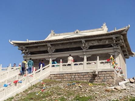 山西忻州-五台山北台葉斗峰靈應寺